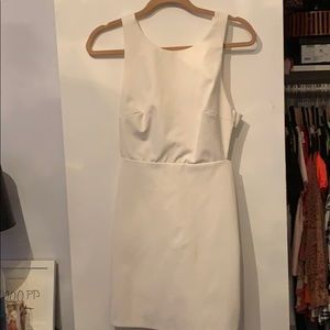 White open back dress with bow